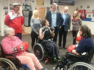 Showing Adult Services - Adults in Wheelchairs Boxing